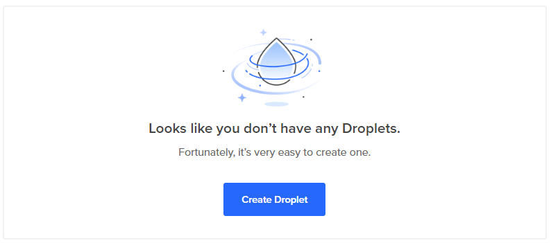 Digital Ocean Create Droplet
